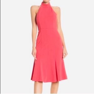 NWT Donna Morgan Pink Mock Neck Sleeveless Dress 2